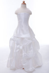 Princess-Wedding-Flower-Girl-Bridesmaid-Communion-Party-Gown-Size-Age-2-12-Years