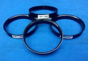 (1069) 4x  Zentrierringe 66,1 / 64,1 mm schwarz für Alufelgen