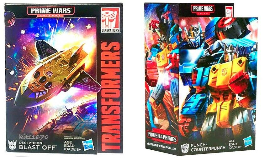 Transformers Prime Wars Trilogy POTP Punch Blast off & Counterpunch Set of 2 New