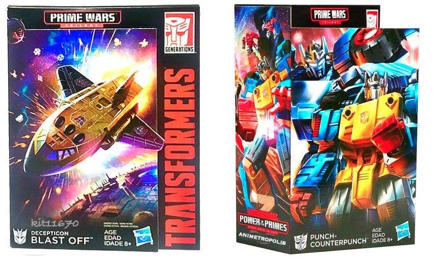 Transformers Prime wars trilogy POTP Punch Blast Off & Counterpunch Set de 2 NEUF