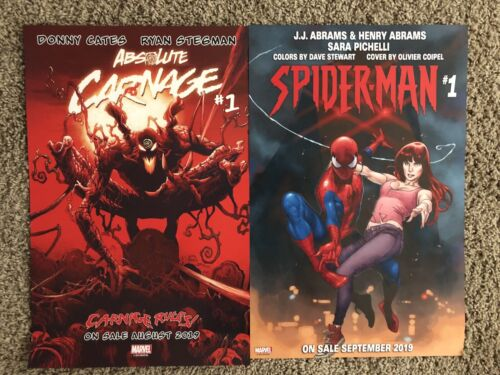 SDCC 2019 Marvel Spider-Man /& Absolute Carnage 2 Sided Poster JJ Abrams