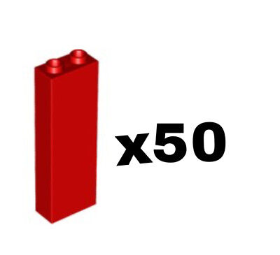 LEGO LOT OF 50 NEW 1 X 2 Burgundy Red Maroon BRICKS