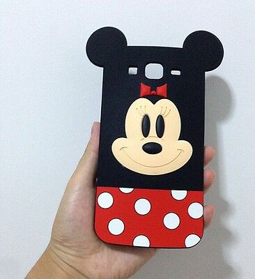 3D Mickey Soft Silicone Back Cover Case For Samsung Galaxy Mega 5.8 i9150 i9152
