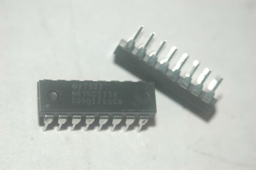 NATIONAL MM74C175N CD40175BCN Quad D-Type 16-Pin Plastic Dip New Quantity-2