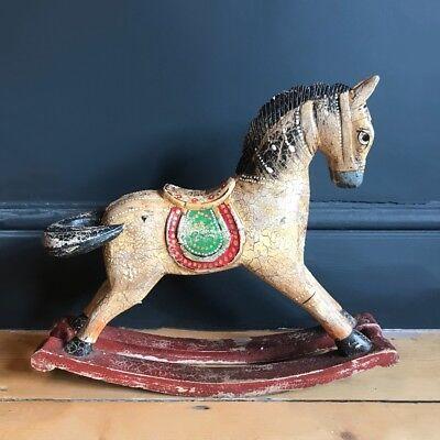 Antique Indian Gold Rocking Horse