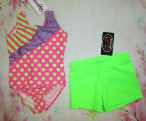 New 4 Sizes SC IC MC LC Child Dance Gymnastics Black Shorts for Leotard Girls