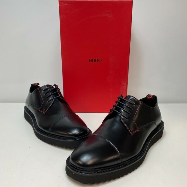 Hugo Boss Black Oxford Leather Dress Shoes 13 46 Mens Fashion Casual .5  Bicycle for sale online | eBay