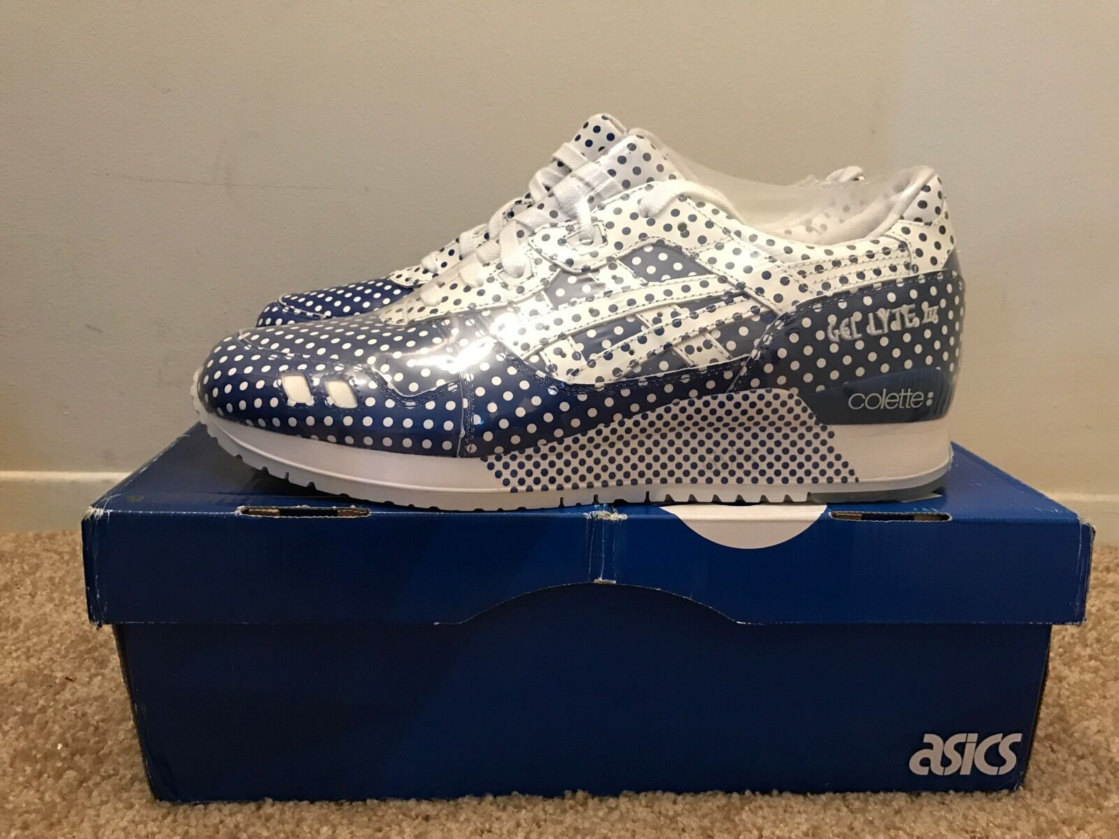 Asics  XColette 25th Ann Dotty Gel Lyte 3 Brand New Dead Stock Size 11.5 Receipt
