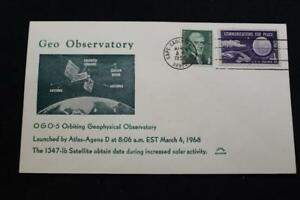 Raum-Abdeckung-1968-Maschine-Stempel-OGO-5-Kreisende-Geophysical-Observatory-Lau