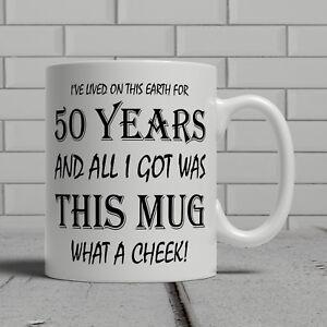 Image Is Loading 50th Birthday Mug Funny Cheeky Gift Idea Mum