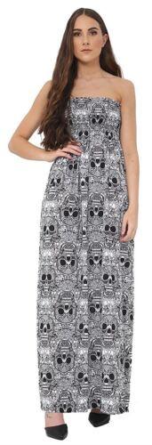 Frauen Plus Größe Trägerlos Sheering Boob Tube Bandeau Sommer Strand Maxi Kleid