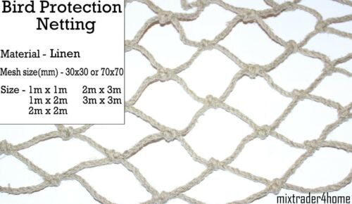 Bird Protection Netting Linen Eco Net Natural Antibird Garden Plant Crop Fruit