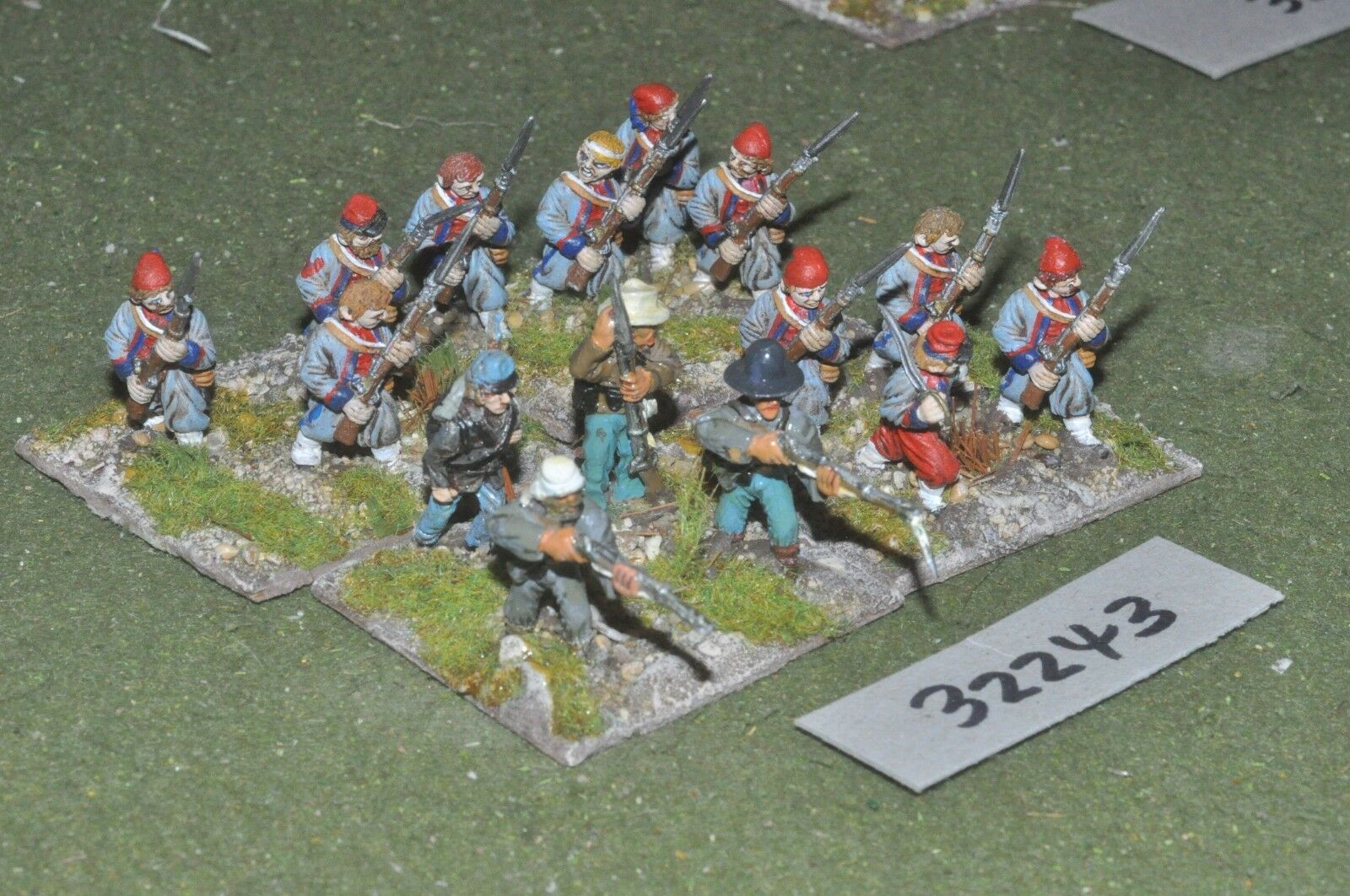 25mm ACW   confederate - regt. 15 figures - inf (32243)