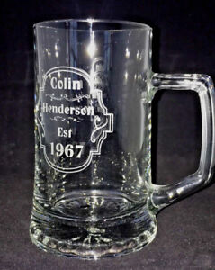 Personalised 1 Pint Stern Birthday tankard (Label Style) - Gift Boxed