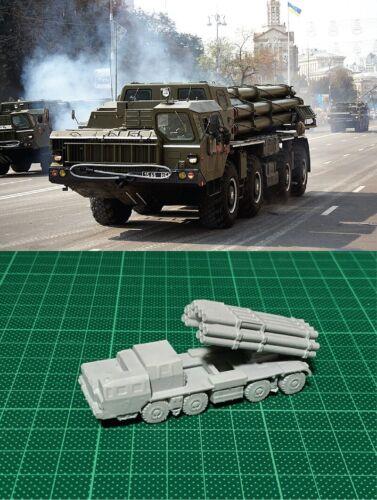 1//144 Russian BM-30 Multiple Rocket Launcher System Resin Kit