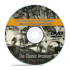 New England People, Cities and Towns, History and Genealogy 157 Books DVD CD B24