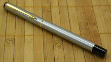 Baoer 801 Stainless Steel Fountain Pen with Gold Trim - (23g) low price