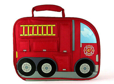 Fire Engine shaped insulated lunchbox-BY THERMOS CO.INCLUDES WATER BOTTLE!