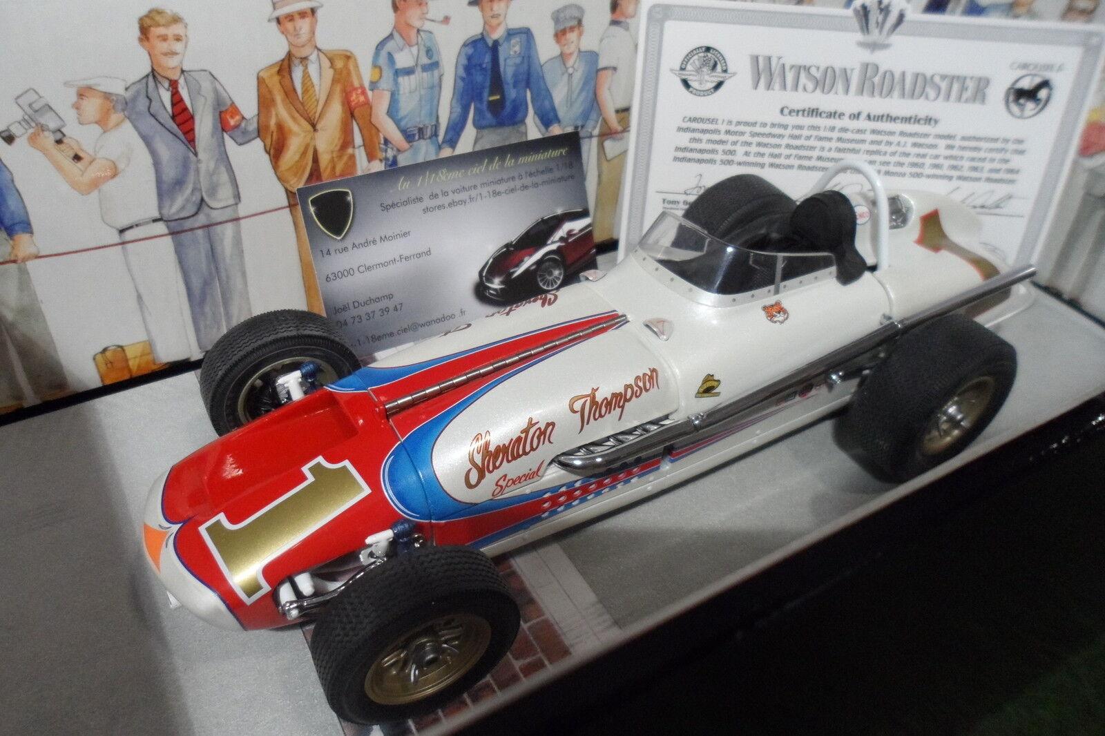 Felices compras WATSON ROADSTER   1 INDIANAPOLIS INDIANAPOLIS INDIANAPOLIS 500 WINNER 1964 au 1 18 CocheOUSEL 1 4406 voiture  compras en linea