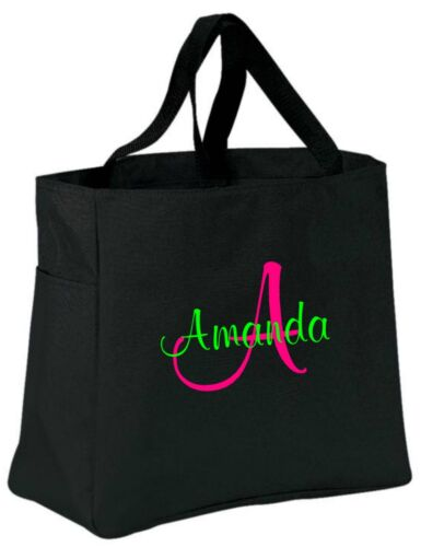 13 Personalized Tote Bag Monogram Bridal Bridesmaid Wedding Cheer Dance Gift