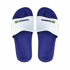 1ccb28c0be9fb Havaianas Brasil Sliders Mens Beach Shoes Slides Sandals Flip Flops White  Black