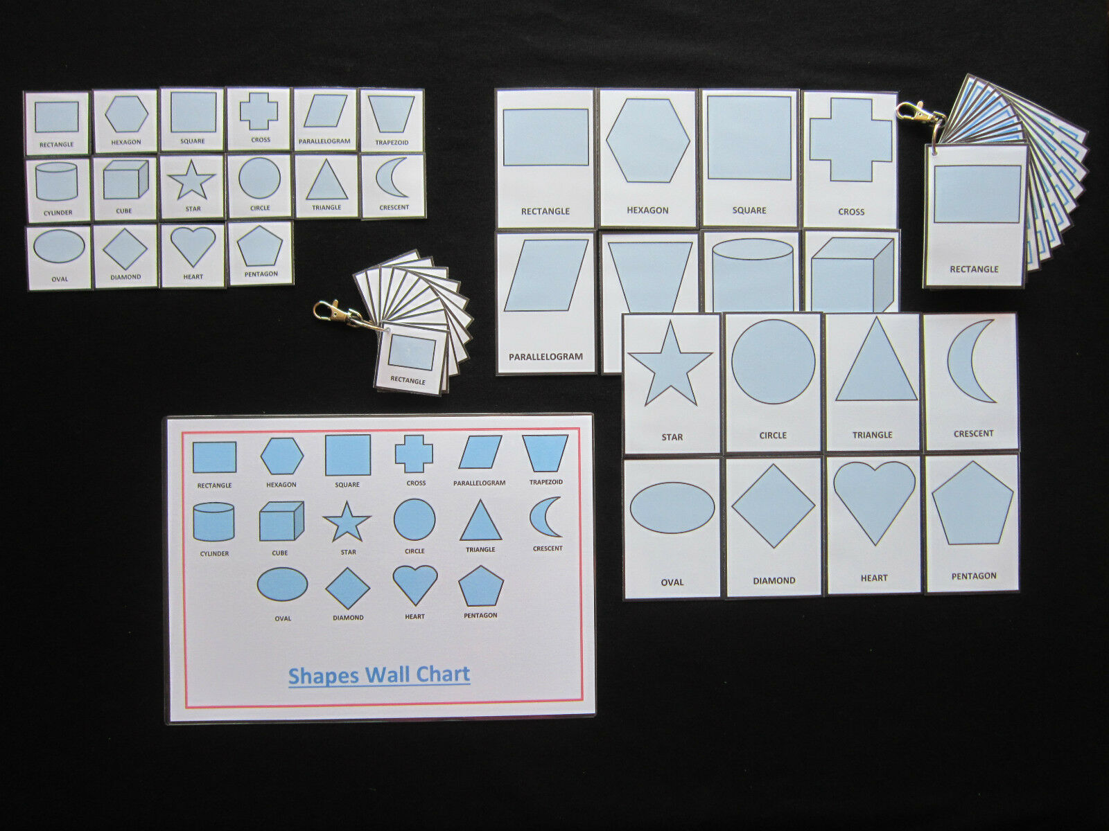 Shapes Cards Pale bluee-PECS Autism Choice Board Dementia Speech Loss Visual Aids