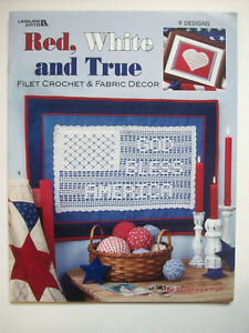 Red white and blue filet crochet pattern home decor flags god bless image is loading red white and blue filet crochet pattern home dt1010fo