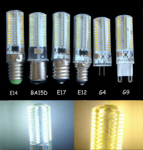 6W G4 G8 G9 E10 E11 E12 E14 E17 BA15D GY6.35 152 LEDs SMD white warm Light Bulb