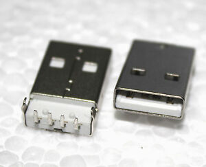 2pcsType-A-4-Pin-USB-Connector-Socket-PC-PCB-Through-Hole-Right-Angle-90-Male