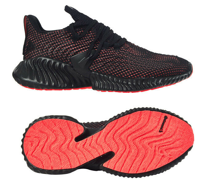 Adidas Men's AlphaBOUNCE Instinct Running shoes Black Red Walking Casual D96536