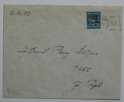 Geschickt Finnland Brief Felpost Nr 5 Fdc 16.10.1943 g644