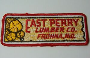 5-034-Old-Vintage-1970s-EAST-PERRY-LUMBER-COMPANY-FROHNA-MISSOURI-ADVERTISING-PATCH