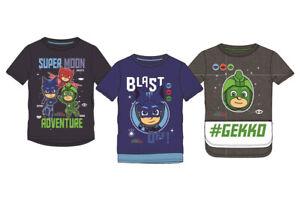 PJ-Masks-Kinder-Jungen-T-Shirt-Helden-Catboy-Oberteil-Gr-98-104-110-116-128-Neu