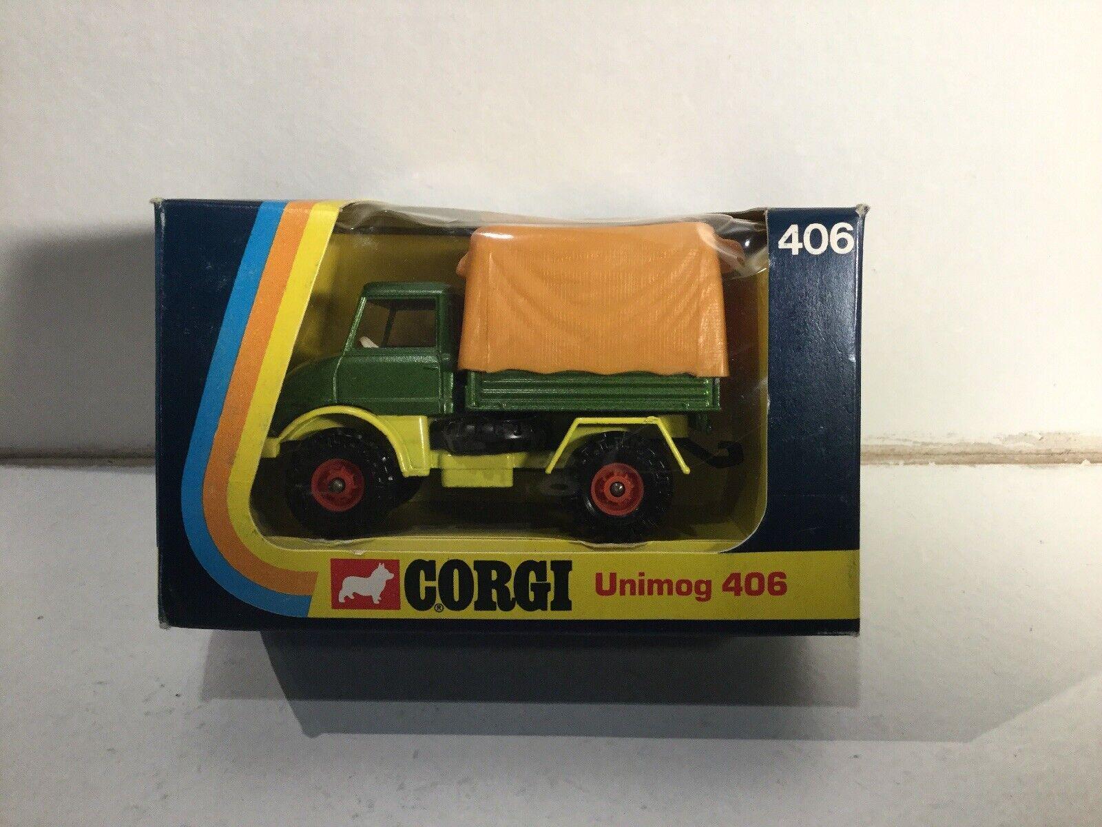 Vintage Corgi 406 Unimog Mercedes benz Near Mint Within Its Original In Box