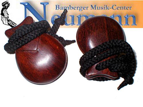 Rosenholz Castanets Kastagnetten Paar Indischer Palisander Farbe