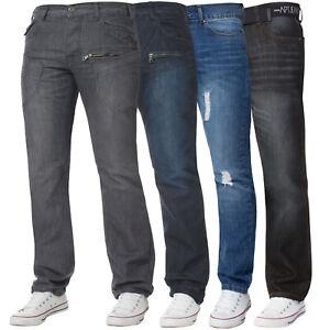Mens-Straight-Leg-Jeans-Regular-Fit-Denim-Trousers-Pants-Sale-All-Waist-Sizes