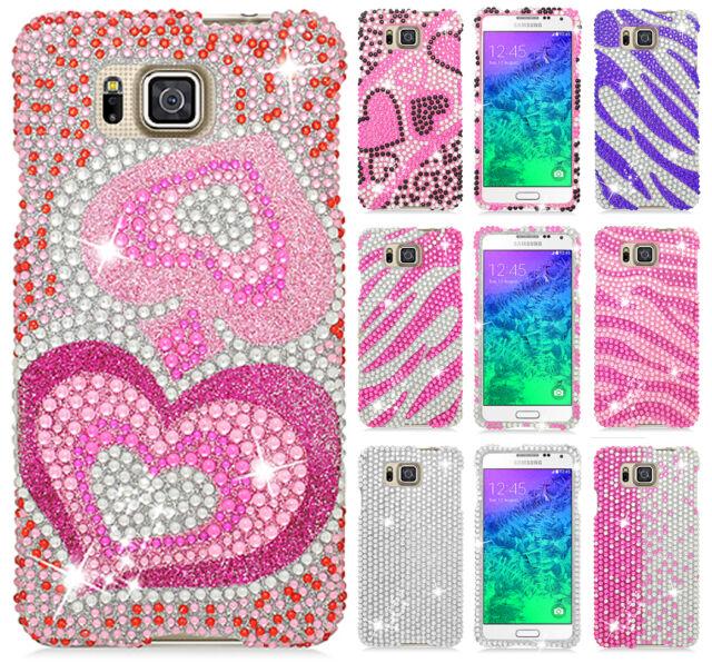 For Samsung Galaxy Alpha G850 Crystal Diamond BLING Protector Hard Case Cover