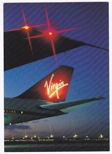 Virgin-Airline-Boeing-Plane-at-Night-Postcard