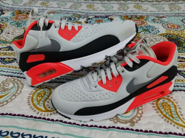 Nike Air Max 90 Ultra Se Infrared Mens 10.5 Running Shoes 845039 006 Sneakers