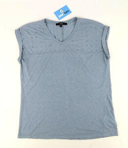 Next-Womens-Size-10-Textured-Blue-Gems-Top-Regular