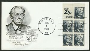 #1280a 2c Frank Lloyd Wright-Use Cremallera Código, Artmaster FDC Cualquier 4=