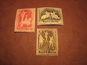 Old Stamps San Marino Scott# 554-556 1963 MOG LH