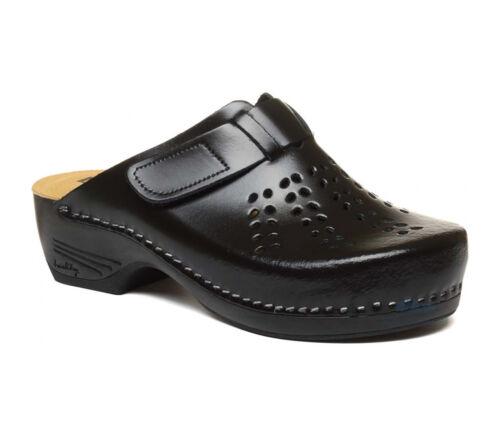 Sabots Dames Nouveau Femmes Cuir Slip Pu161 Pantoufles Noir On Sandales Mules En Leon ZTxfw8