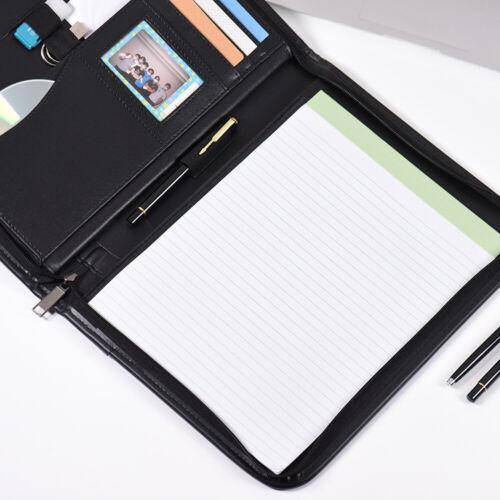 Schreibmappe Dokumentenmappe Aktenmappe A4 Schreibblock Folder Lederoptik K4R4