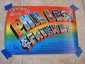 Phil-Lesh-amp-Friends-2001-Grateful-Dead-Signed-Autographed-Poster-PSA-Guaranteed