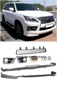 Details about For 13-15 Lexus LX 570 Sport Style Front Rear Bumper Lip  Lower Grille Body Kit