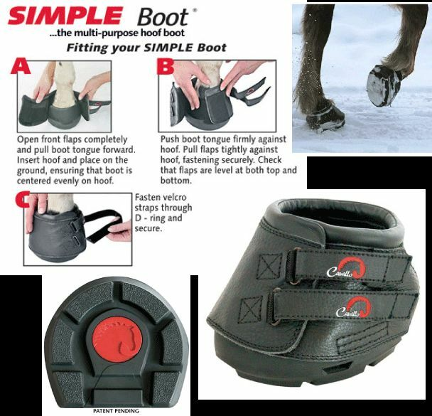 Cavallo 'SIMPLE' Hoof Boots (Pair) - Horse. Equine. Hoof SOLE Protection, SLIM SOLE Hoof ea945d