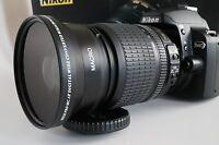 67 Wide Angle + Macro Lens For Nikon 18-140mm Vr Af-s Dx Nikkor D7100 7000 5300