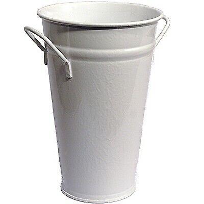 Vase brombeer 30 cm Zink verzinkt Zinkvase Metall Blumenvase