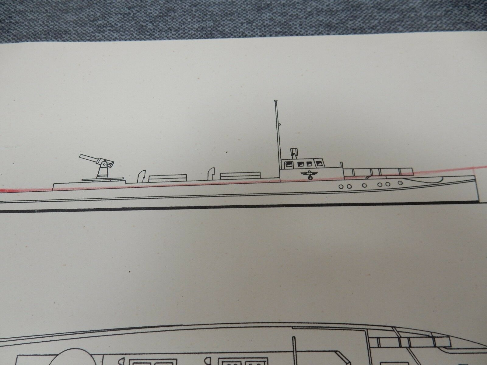Modelo de papel Segunda Guerra Mundial Schnellbota muy grandes Original